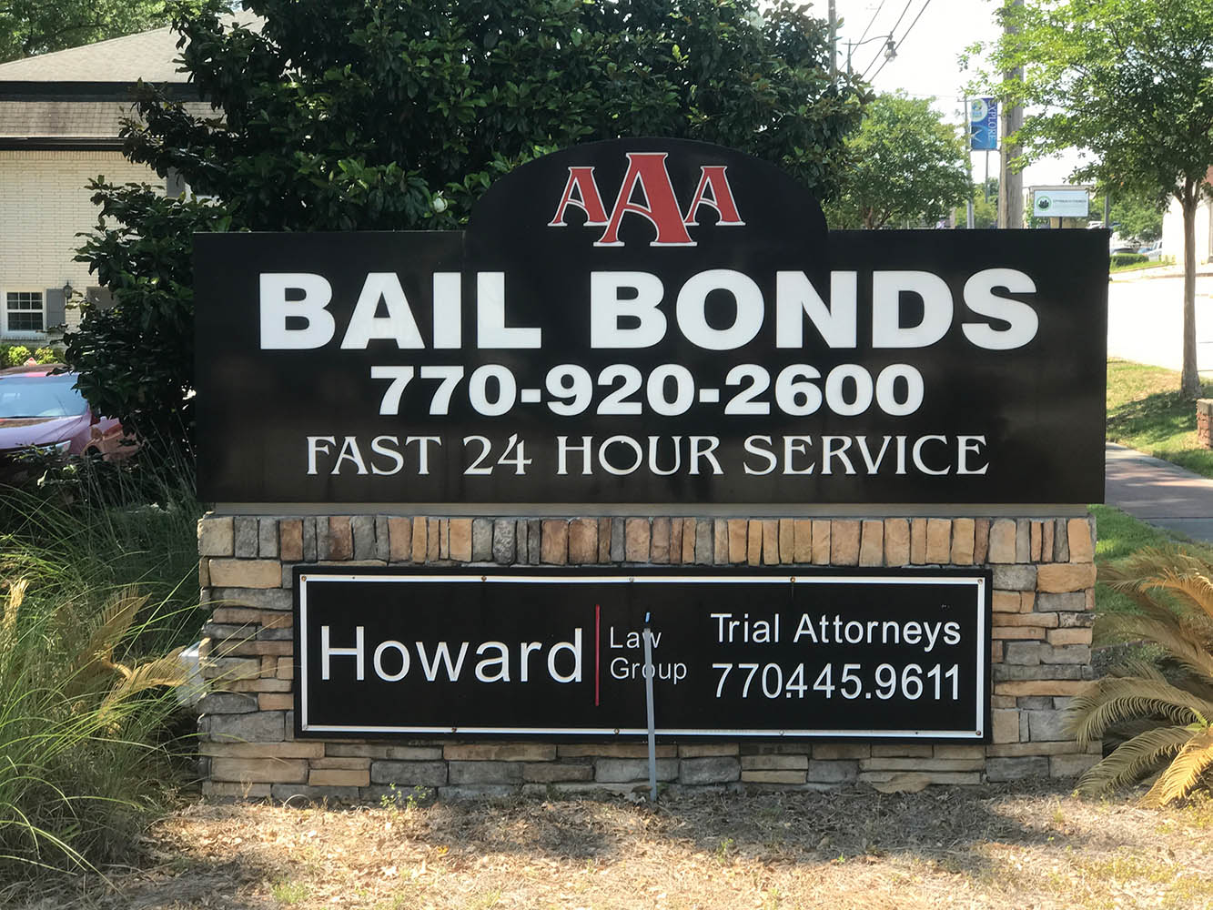 AAA Bail Bonds Street Sign